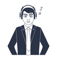 music icon cartoon vector image