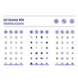 notes ui icons kit vector image vector image