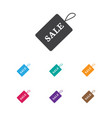 of shopping symbol on discount vector image vector image