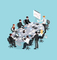 office conference isometric design vector image vector image