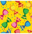 pattern funny sweets candy vector image vector image