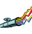 pipe revenue graphs grow up vector image vector image