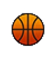 Pixel basketball vector image vector image