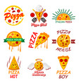 pizza templates for fast food or italian vector image vector image