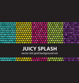 polka dot pattern set juicy splash seamless vector image vector image