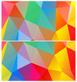Polygon banner background vector image vector image