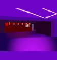 purple perspective background vector image vector image