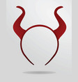 red horns headband mask vector image vector image
