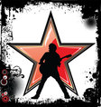 Rock star grunge background vector image vector image