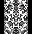 seamless floral damask pattern black white color vector image