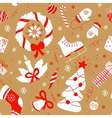 Seamless pattern with christmas elements New year vector image