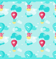 seamless pattern with cute spring cats vector image vector image