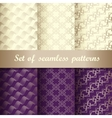 Set of seamless patterns 2 vector image