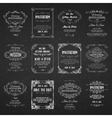set templates with banners vintage design vector image