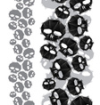 Skulls seamless pattern vertical composition vector image vector image