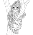 sloth coloring vector image