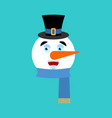 snowman happy emotion avatar merry emoji face new vector image