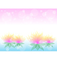 Soft waterlily flower with pink vector image