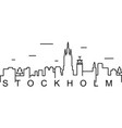 stockholm outline icon can be used for web logo vector image
