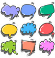 style of text balloon colorful set vector image vector image