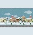 urban landscape set town houses along city vector image