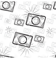 Vintage photo cameras seamless pattern
