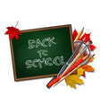 welcome back to school background school items vector image