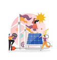 wind and solar alternative energy production vector image