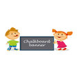 kids cartoon boy and girl vector image