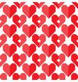 seamless geometric heart pattern vector image