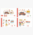 automatic barrier checkpoint landing page vector image
