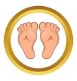 Baby legs icon cartoon style vector image vector image