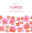 Background with flowers Watercolor violets vector image vector image