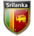 badge design for flag of srilanka vector image vector image