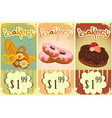 bakery price tags Vintage vector image