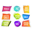 banners colored shapes trendy flat promo banners vector image vector image