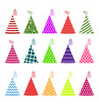birthday hat set vector image vector image
