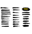 black paint ink brush stroke brush line vector image vector image