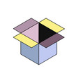 box isometry icon vector image