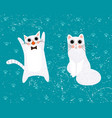 cat set cartoon vector image