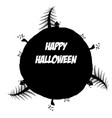 circular frame with happy halloween text vector image vector image