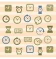 clocks icons vector image vector image