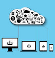 cloud computing data storage vector image vector image