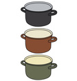 Color pot vector image
