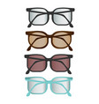 colorful flat glasses set vector image