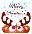crazy cute deer merry christmas happy new year vector image vector image