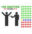 crime robbery icon with bonus avatar set vector image
