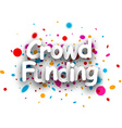 Crowd funding paper background vector image