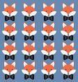 cute cartoon foxes vector image vector image