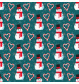 cute christmas pattern vector image vector image